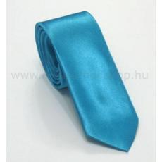 Szatén slim nyakkendõ - Tûrkízkék