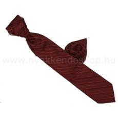 Krawat Hosszított francia nyakkendõ - Bordó csíkos