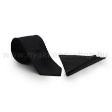 Zsorzsett szatén slim szett - Fekete