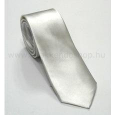Szatén slim nyakkendõ - Halványszürke