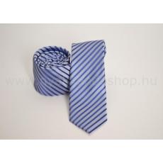 Rossini Prémium slim nyakkendõ - Kék-ezüst csíkos