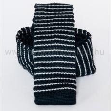 Prémium kötött nyakkendõ - Fekete-fehér csikos