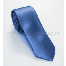 Szatén slim nyakkendõ - Tengerkék