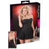Cottelli - Bársonyosan vad rakott ruha (fekete)