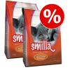Smilla Gazdaságos kiszerelés: 2 x 4 kg Smilla száraz macskatáp - Adult XXL-krokett szárnyas