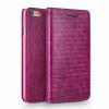 QIALINO Classic Lizard iPhone 6 oldalra nyíló eredeti bőr flip tok, rózsaszín
