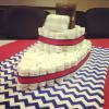 Pelenkatorta hajóformában