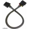 Akasa 4 pin Molex hosszabító harisnyázott - 30cm black /AK-CBPW02-30/