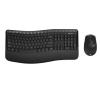 Microsoft BlueTrack Desktop Comfort 5050 Billentyűzet + vezeték nélküli egér, Fekete (PP4-00019) billentyűzet és egér szett