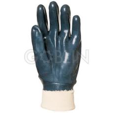 Euro Protection Eurotril kétszer, kézháton is mártott kék nitril, gumis mandzsettával, Actifresh®, 10 pár
