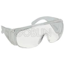 Lux Optical® Visilux védõszemüveg, víztiszta, karcmentes polikarbonát, oldalvédõvel, 10db