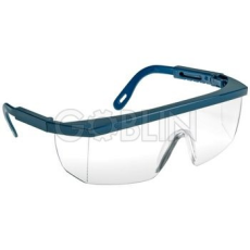 Lux Optical® Ecolux védõszemüveg, kék keret, víztiszta látómezõ, állítható szárhossz, 10 db