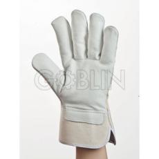 Euro Protection Puha, szürke 1,1 mm vastag színmarha védõkesztyû, erõs fehér kézháttal, 12 pár