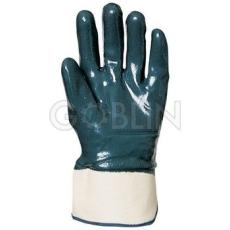 Euro Protection Nitril light Eco kétszer, kézháton is mártott kék nitril kesztyû merev mandzsettával, 10 pár