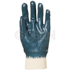 Euro Protection Eurolité kézháton is mártott kék nitril kesztyû gumis mandzsettával, Actifresh®, 10 pár