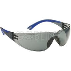Lux Optical® Starlux védõszemüveg, füstszínû keret és páramentes lencse, rugalmas kék szárvég, 10 db