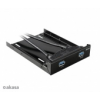 Akasa AK-HDA-09BK 3,5 elõlapi panel 2db USB 3.0 port + 2,5 hdd beépítõkerettel