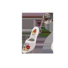 Kalocsai porcelán Papucs-kulcstartó 8 cm