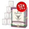 Bozita Naturals falatkák aszpikban 12 x 370 g - Mix: laza, csirke & rizs, rénszarvas