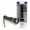 HQ TORCH-L-601 LED elemlámpa erősfényű gumírozott csepp- és ütésálló 2x1,5V AA
