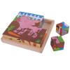 Bigjigs állatos kocka puzzle - 16 db