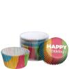 Cupcake muffin papírforma Happy Birthday 75db