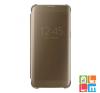 Samsung Galaxy S7 Edge clear view cover tok, Arany tok és táska