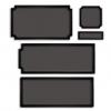 DEMCIFLEX porszûrõ készlet Corsair Obsidian 450D - fekete