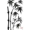 Fekete falmatrica - Bambusz #10
