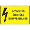 A vezeték érintése életveszélyes! (TÁBLA)
