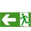 Menekülési út balra (TÁBLA)