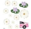 Fehér virágok autó dekoráció