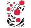 Piros virág matrica