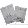 Mr RIGHT és Mrs ALWAYS RIGHT feliraú póló szett férfi-női Mr és Mrs