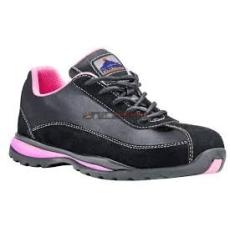 Portwest FW39 Steelite női védőcipő S1P (FEKETE/PINK)