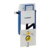 Geberit Kombifix fali WC elem, elölről működtethető UP320 öblítőtartállyal, védőcsővel, szagelszívási lehetőséggel
