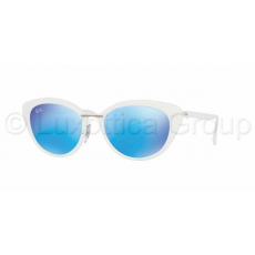 Ray-Ban RB4250 671/55 SHINY WHITE GREEN MIRROR BLUE napszemüveg