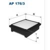 Filtron levegőszűrő AP176/3 1 db
