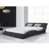 Beliani Fekete franciaágy - Szövet ágy ágyráccsal - 180x200 cm - VICHY