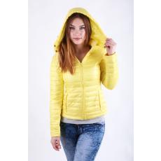 Impresszió Sárga steppelt kapucnis kabát