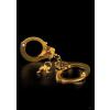 Pipedream Rendőr utánzatú arany színű csuklóbilincs kulcsokkal