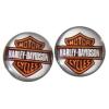 Harley Davidson logós acél fülbevaló