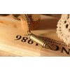 Bronz színű lőszer medálos nyaklánc