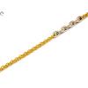 Bicolor anker betétes arany karlánc