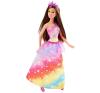 Barbie Tündérmese hercegnők - Szivárvány ruhás barbie baba