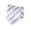 Goldenland nyakkendõ - Lila-fehér csíkos nyakkendő