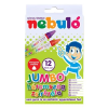 Nebulo Zsírkréta, háromszögletű, jumbo, 12 darabos, NEBULÓ