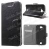 Notesz tok / flip tok - FEKETE - asztali tartó funkciós, oldalra nyíló, rejtett mágneses záródás, bankkártya tartó, szilikon belsõ - ACER Liquid Z530 / ACER Liquid Z530S