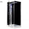 Kerra Twin szögletes hidromasszázs zuhanykabin, jobbos beépítéssel