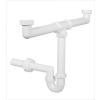 Kétmedencés mosogató csőszifon, leeresztőszelep nélkül, 40 mm (STY-639-2)